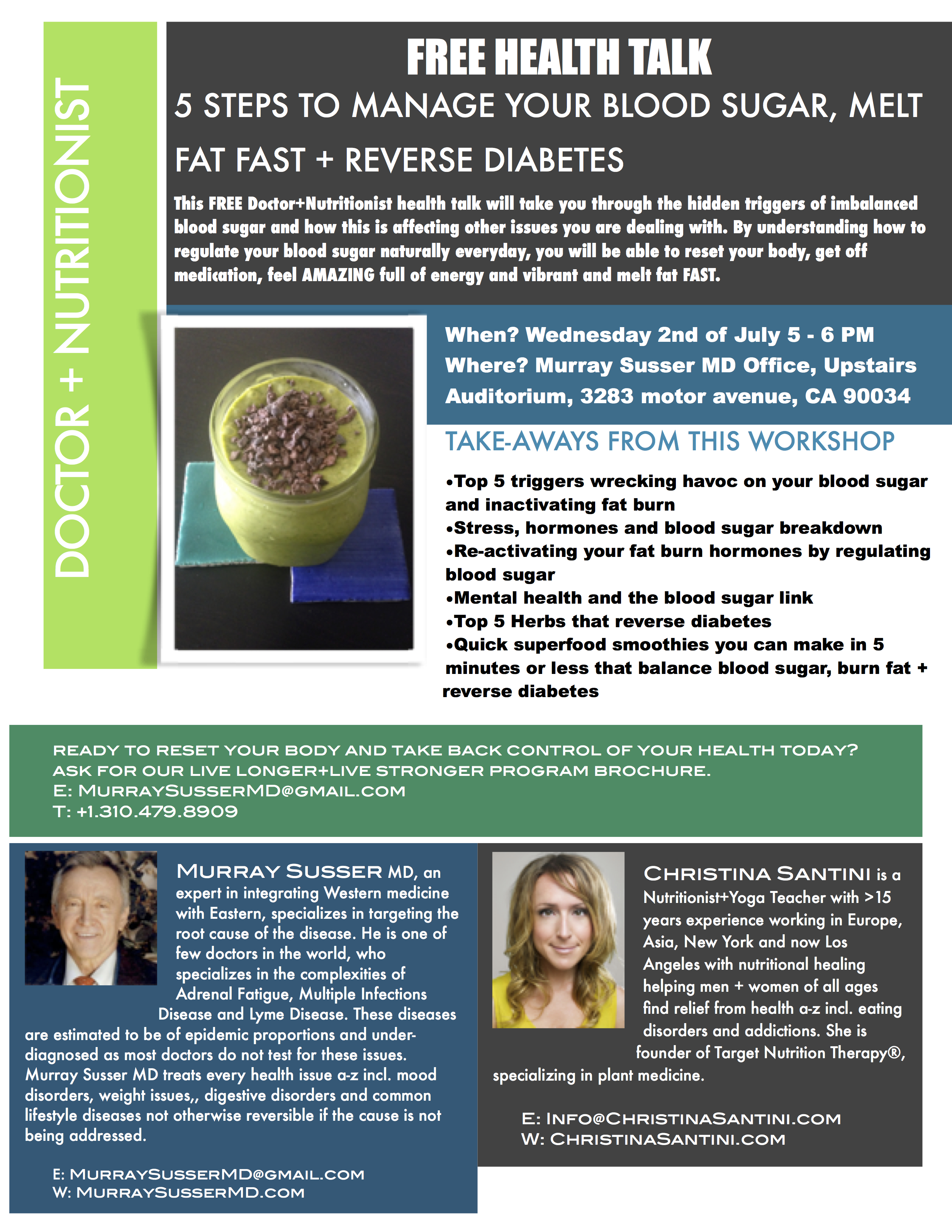 manage your blood sugar free health talk